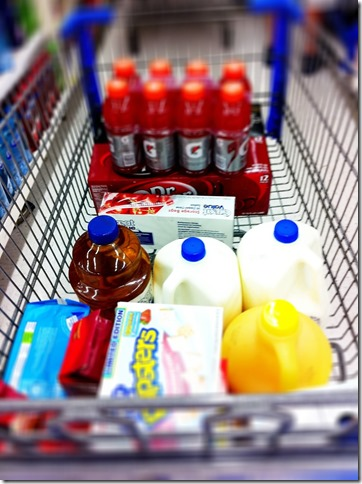 Groceries in Cart
